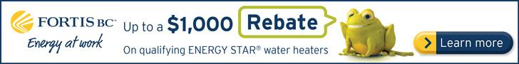 Fortis Rebates Water Heater Program