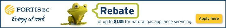 Fortis Gas Appliance Maintenance Rebate